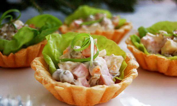 Рецепты салаты в тарталетках рецепты