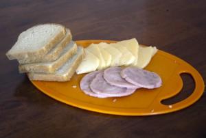 Вечина, сыр, хлеб