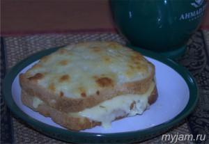 Фото готового бутерброда Крок-месье