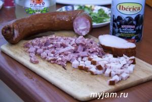 Колбаса и копчённости к солянке