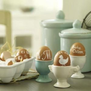 Украшенные яйца на Пасху