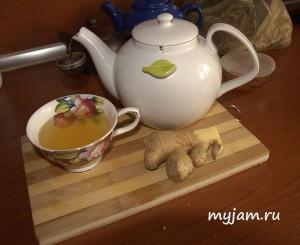 Готовый имбирный чай