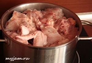 подготовка курицы к тушению