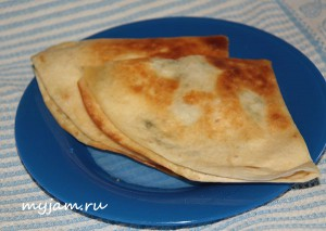 Тортилья с сыром и зеленью