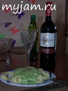 Макароны с песто и вином
