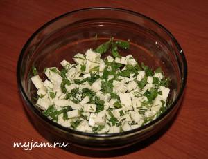 Cыр с зеленью