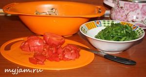 овощи для салата с шампиньонами
