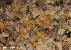 вкусный салат из куриной печени