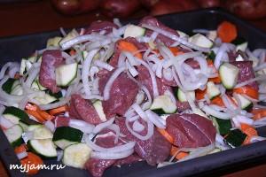 мясо овощи грибы