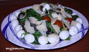 вкусный салат с руколой