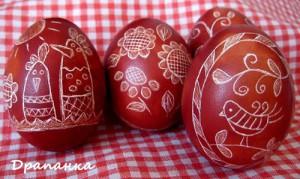 драпанка на яйце