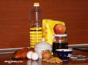 ингредиенты морковного пирога