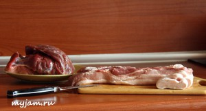прослойка и говядина