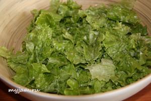 салат для цезаря
