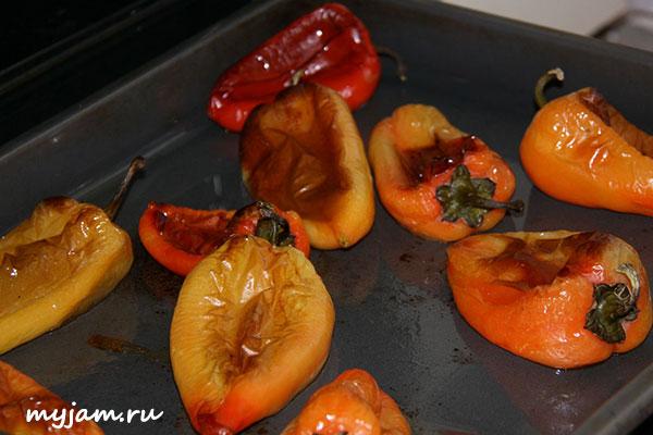 Запечь перец в духовке