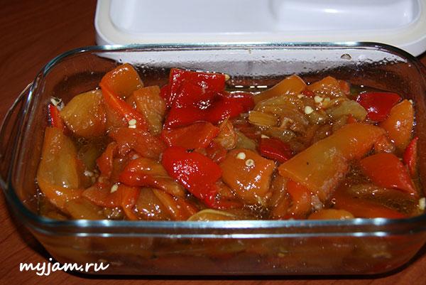 салат из запеченного перца