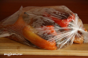 запеченный перец в пакете