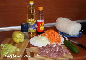 ингредиенты мясной фунчозы