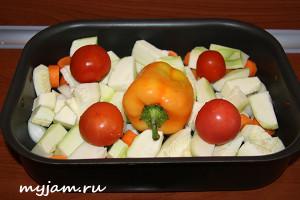 овощи крупно порезать