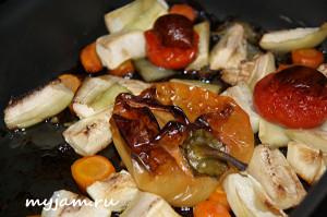 запеченные овощи для икры