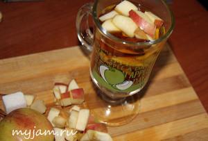 рецепт яблочного чая с корицей