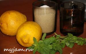Фото ингредиентов для домашнего лимонного напитка