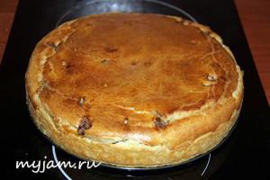 вкусный заливной пирог с мясом