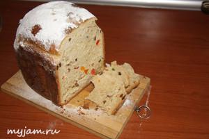 Весенний кулич в хлебопечке