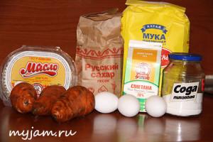 Ингредиенты для пирога с морковью