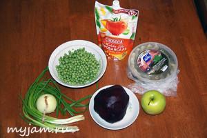 Рецепт салат с селёдкой 5