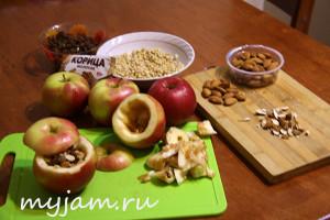 Рецепт запеченных яблок с изюмом