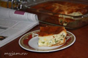 Пирог с яйцами