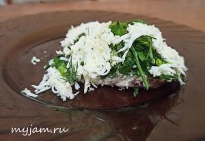 Белковый салат с тунцом